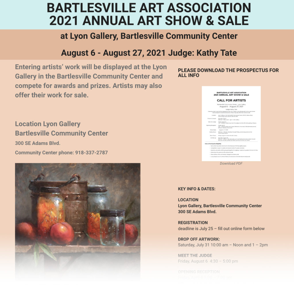 Call for Artists 2021 Annual Art Show & Sale