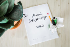 Modern Brush Calligraphy Workshop- Class is FULL